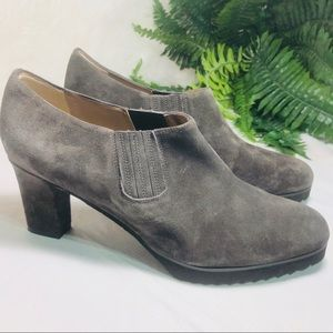 - Anyi Lu grey suede boots  size 12